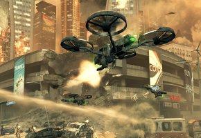 Обои Call of Duty, Black Ops II, Коптер, Дрон, война, город, руины