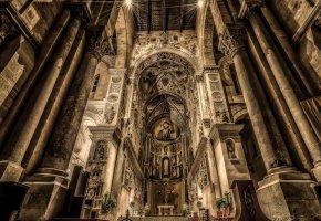 Обои Чефалу, Сицилия, Италия, Кафедральный собор, Дуомо