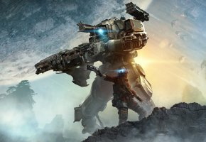 Обои Titanfall 2, Respawn, EA, Game, робот, солдат, оружие