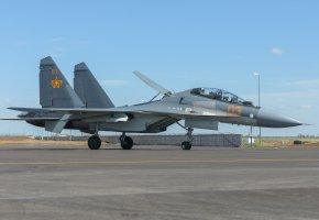 Обои Сухой, Су-30СМ, истребитель, аэродром, взлетная полоса