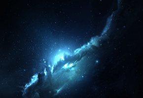 Обои вселенная, созвездие, туманность, звезда, бездна, вакуум, пространство