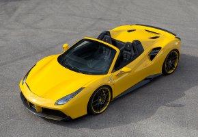 Обои Ferrari, 488, Spider, авто, тюнинг, car, yellow