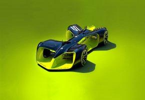 Обои Roborace, Formula E, car, futuristic, fast, speed, racing