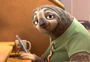 Обои Зверополис, Ленивец, Zootopia, sloth, cartoon