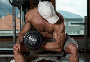 Обои bodybuilder, muscle, gym, поза, мышцы, тренировка