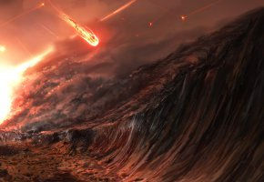 Обои апокалипсис, апокалиптический, apocalypse, фантастика, метеорит