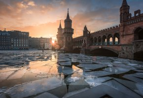 ���� Germany, Berlin, sunset, ice, ��������, ������, ���, ����, ����, ����