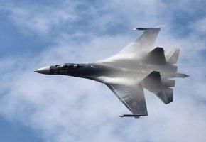 Обои Су-35С, Su-35S, Су-35, Сухой, полет, небо, крылья