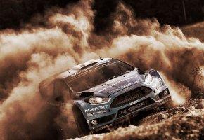 Обои Пыль, спорт, Fiesta, Ford, Форд, Rally, WRC