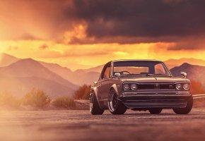 Обои Car, Skyline, Classic, 2000, Nissan, Front, GTX