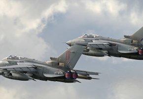Обои самолёты, Tornado GR4, оружие, полет, сопла