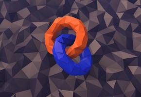 Обои кольца, фон, 3Д, графика