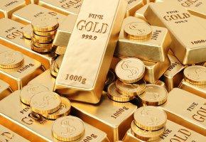 Обои Золото, слитки, монеты, проба