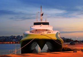 ���� catamaran, ���������, ship, port, �������, ����, ��������