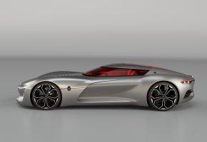 Обои automobile, gray, Renault, авто, Рено, серый, суперкар