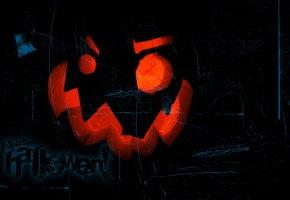 Обои Halloween, Night, хэллоуин, фон, глаза