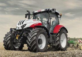 Обои farming, steyr, tractor, трактор, поле, колеса