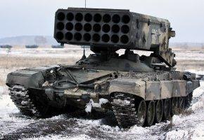 Обои Буратино, ТОС-1, оружие, броня, ракетница