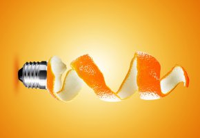 Обои фон, спираль, патрон, кожура, апельсин