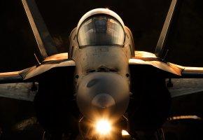 Обои оружие, армия, самолёт, F-18A, Hornet