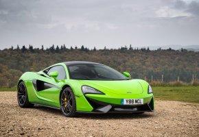 Обои Суперкар, Салатовый, Автомобиль, 570S, Coupe, McLaren