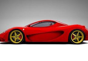 Обои Ferrari, Феррари, красный, Aurea, Berlinetta