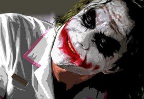 Обои Joker, темный рыцарь, джокер, медсестра, комикс, фильм