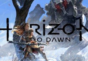 Обои Art, Sony, Aloy, Horizon, Zero Dawn, PS4