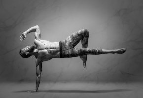 Обои yoga, man, мужчина, йога, мышцы, сила
