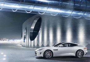 Обои Jaguar, type R, coupe, Ягуар, авто, белый