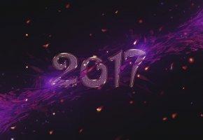 Обои new year, 2017, Новый Год, дед мороз, надпись