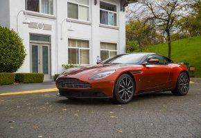 Обои Aston Martin, Orange, House, авто, car, машина