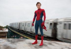 Обои Человек-паук, Возвращение домой, Movie, Spider-Man, Homecoming, Marvel