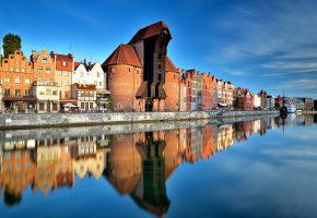 Обои Old Town, Gdansk, Pomeranian, Гданьск, Польша, Poland