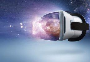 Обои Virtual Reality, game, space, VR, виртуальная реальность, шлем