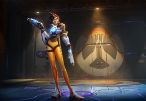 Обои Blizzard Entertainment, Tracer, PlayStation 4, Xbox One, Game, The Game Award, Heroes of the Storm