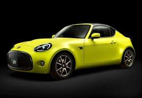 Обои авто, автомобиль, жёлтый, тойота, Toyota S FR