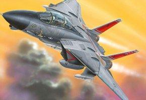 Обои Оружие, самолёт, истребитель, палубный, арт
