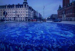 Обои Helsingborg, Sweden, город, улица, дома, здания, дорога