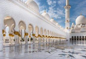 Обои абу-даби, шейх, белая, abu dhabi, мечеть