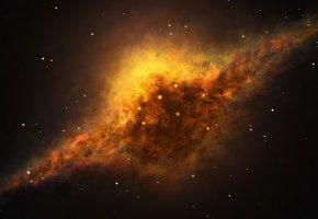 Обои туманность, звезды, вселенная, галактика