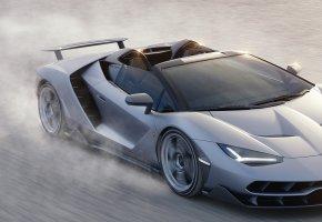 Обои supercar, Lamborghini, Centenario, Roadster, ламборджини, суперкар, скорость