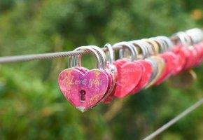 Обои Романтика, замок, сердце, любовь, romantic, lock, heart, love