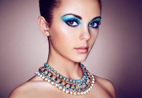 Обои глаза, мейкап, девушка, взгляд, портрет, лицо, макияж, тени