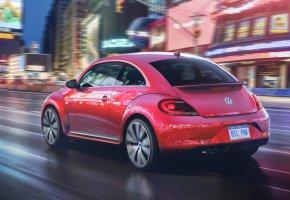 Обои 2017, Volkswagen, Beetle, Pink, Limited Edition