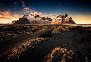 Обои облака, небо, Исландия, горы, свет