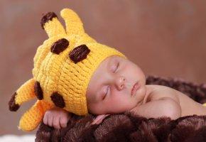Обои шапка, младенец, ребенок, sleep, спит, мило