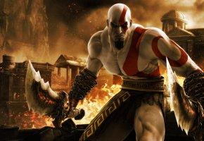 Обои ps3, игра, кратос, бог войны, God of war ascension, kratos, game