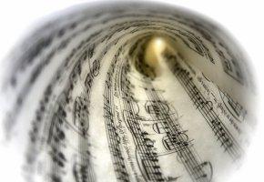 Обои бумага, лист, музыка, ноты, фон