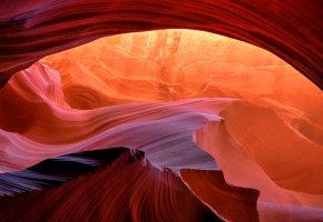 Обои США, Аризона, каньон антилопы, ущелье